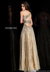 Sherri Hill 8506.  Available in Aqua, Fuchsia, Green, Lilac, Nude, Peach, Pink, Strawberry, Turquoise
